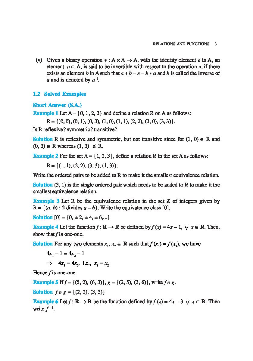 NCERT Exemplar Problems Class XII Mathematics - Page 4