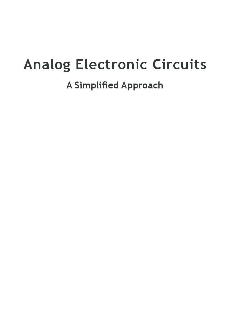 Analog Electronic Circuits A Simplified Approach - Page 2