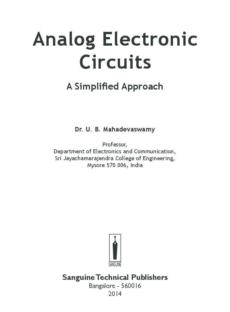 Analog Electronic Circuits A Simplified Approach - Page 3