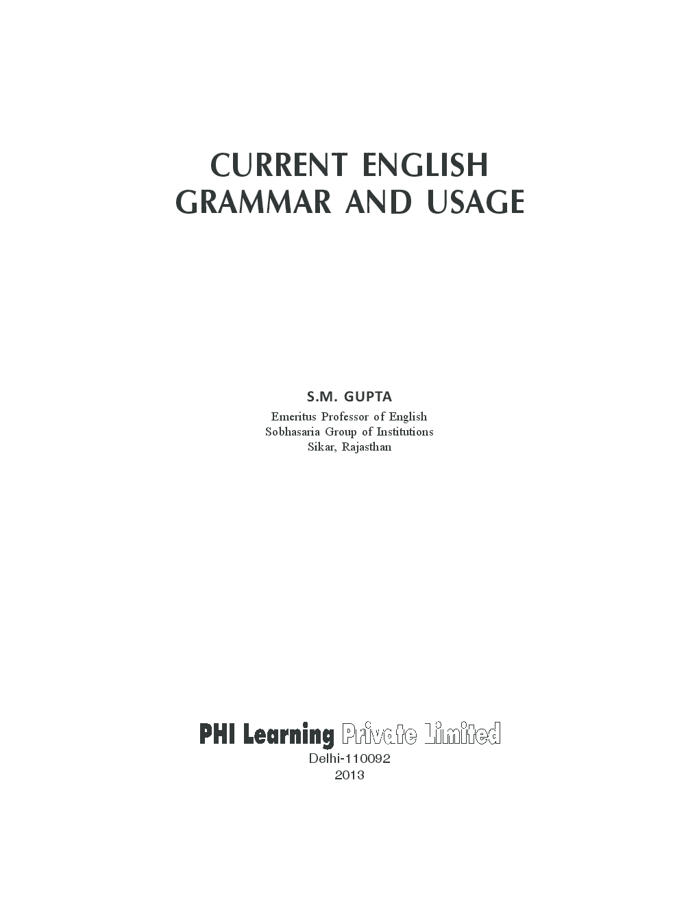 Current English Grammar And Usage - Page 4