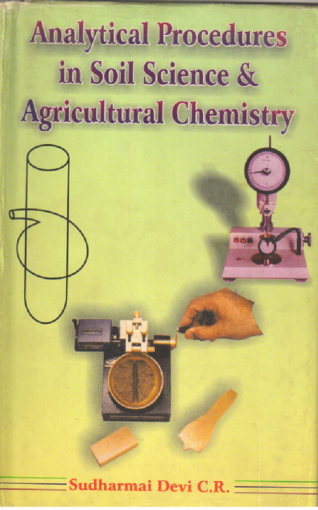 Analytical Procedures in Soil Science and Agricultural Chemistry - Page 1