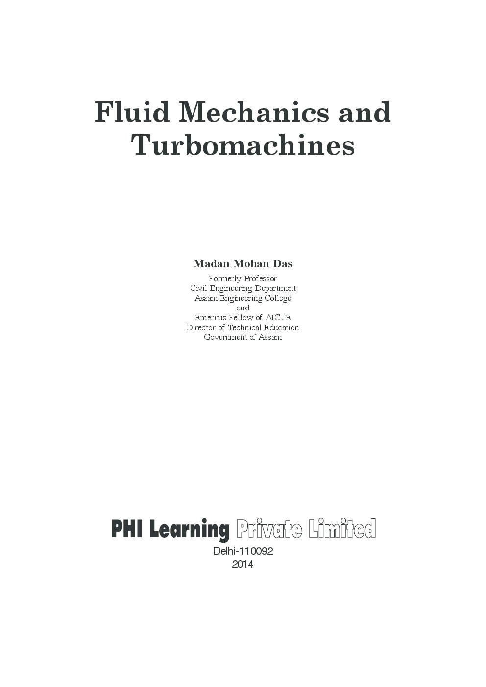Fluid Mechanics And Turbomachines - Page 2