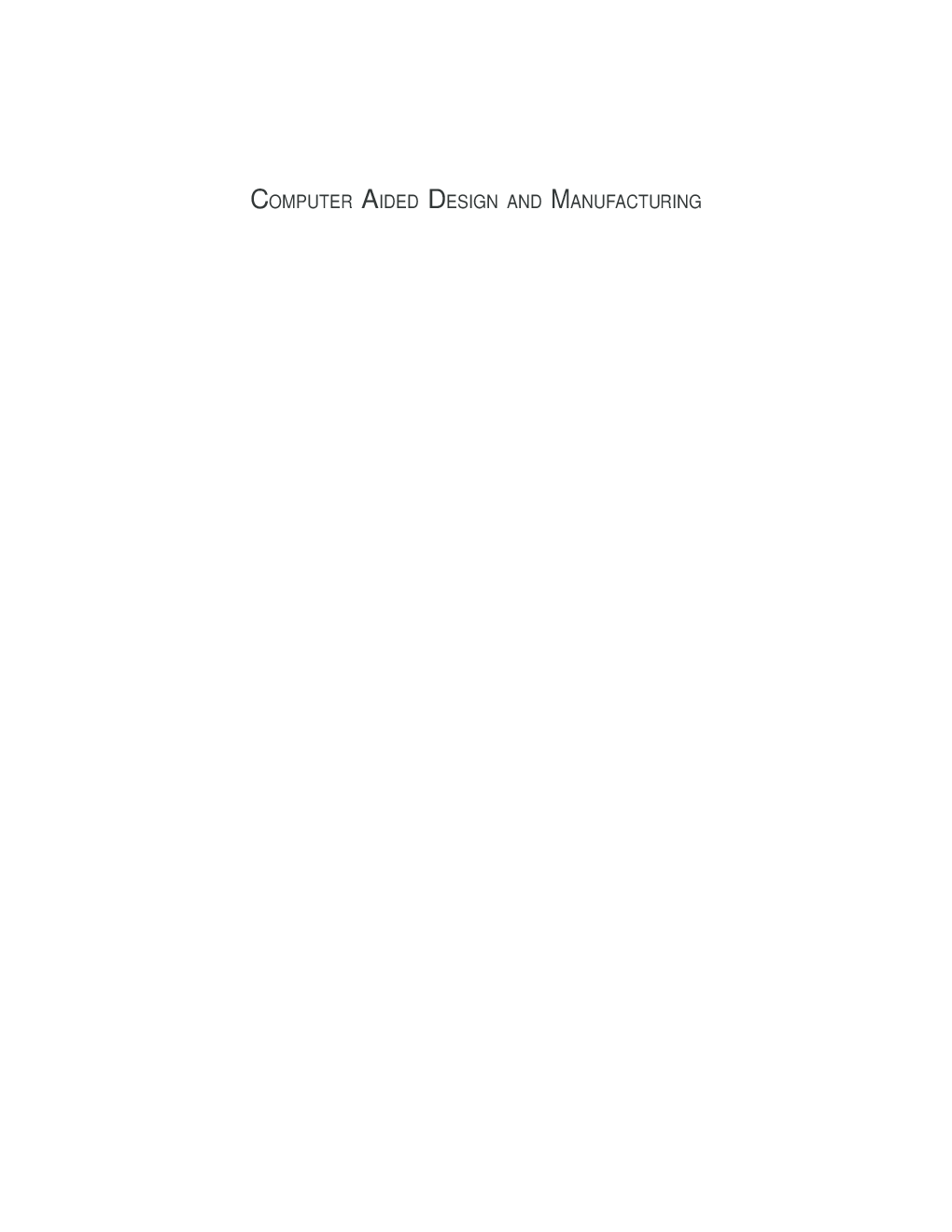 Computer Aided Design And Manufacturing (PHI) - Page 2
