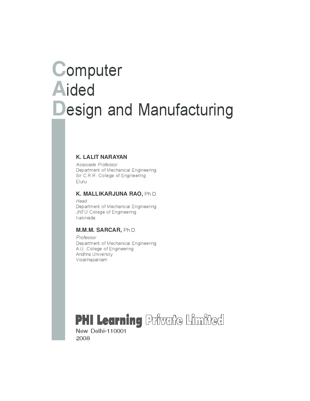 Computer Aided Design And Manufacturing (PHI) - Page 4