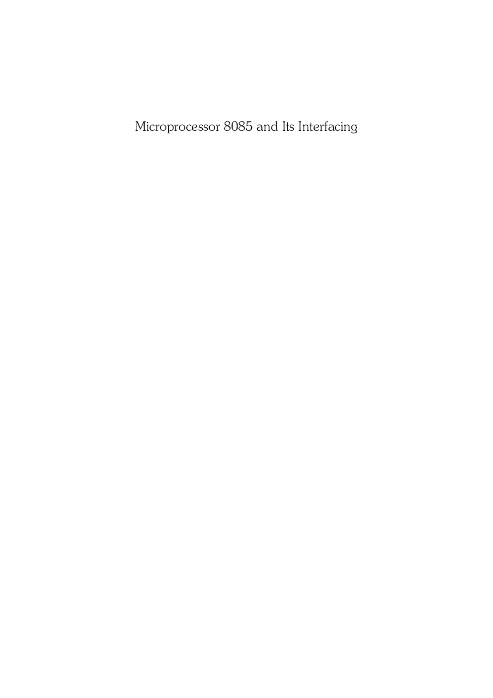 Microprocessor 8085 And Its Interfacing - Page 2