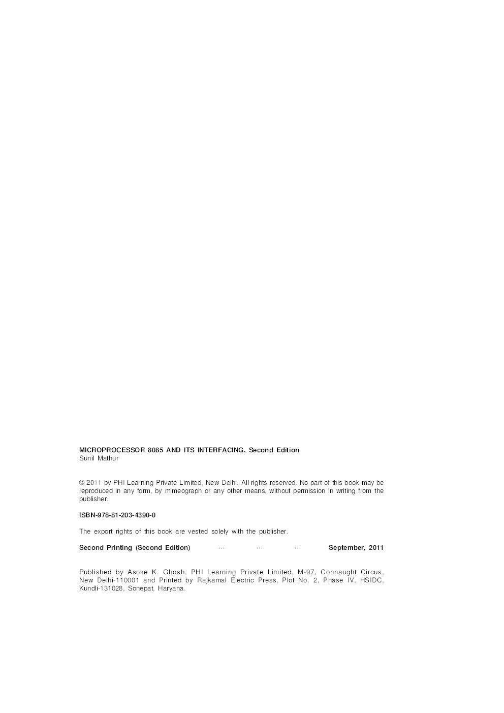 Microprocessor 8085 And Its Interfacing - Page 5