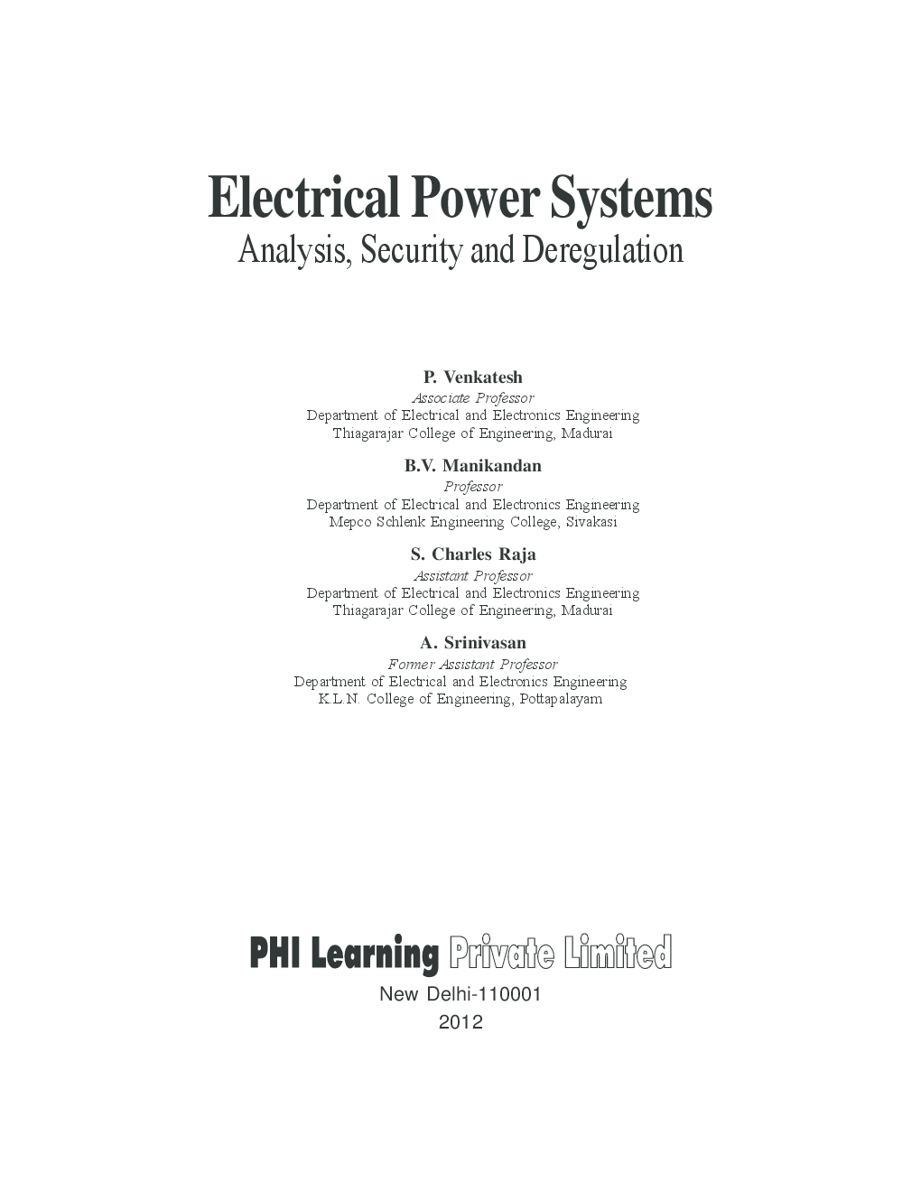 NPTEL Electrical Engineering - Restructured Power Systems
