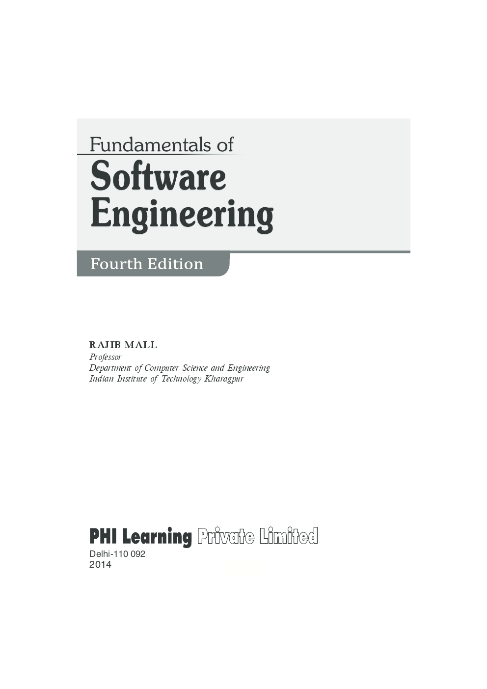 Fundamentals Of Software Engineering - Page 2