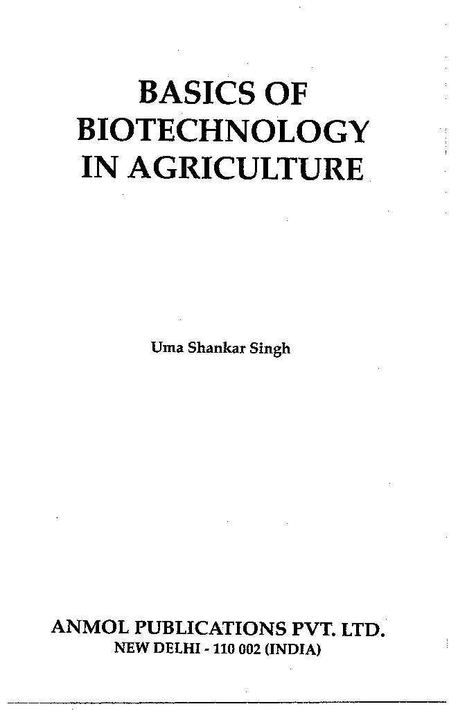 Basics of Biotechnology in Agriculture - Page 3