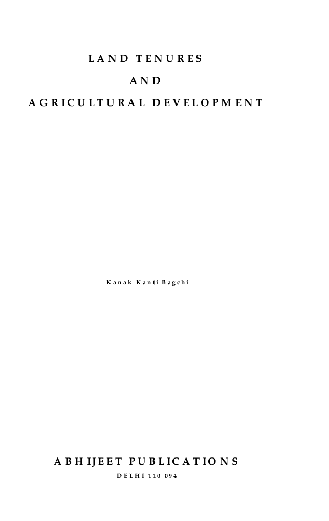 Land Tenures and Agricultural Development - Page 2