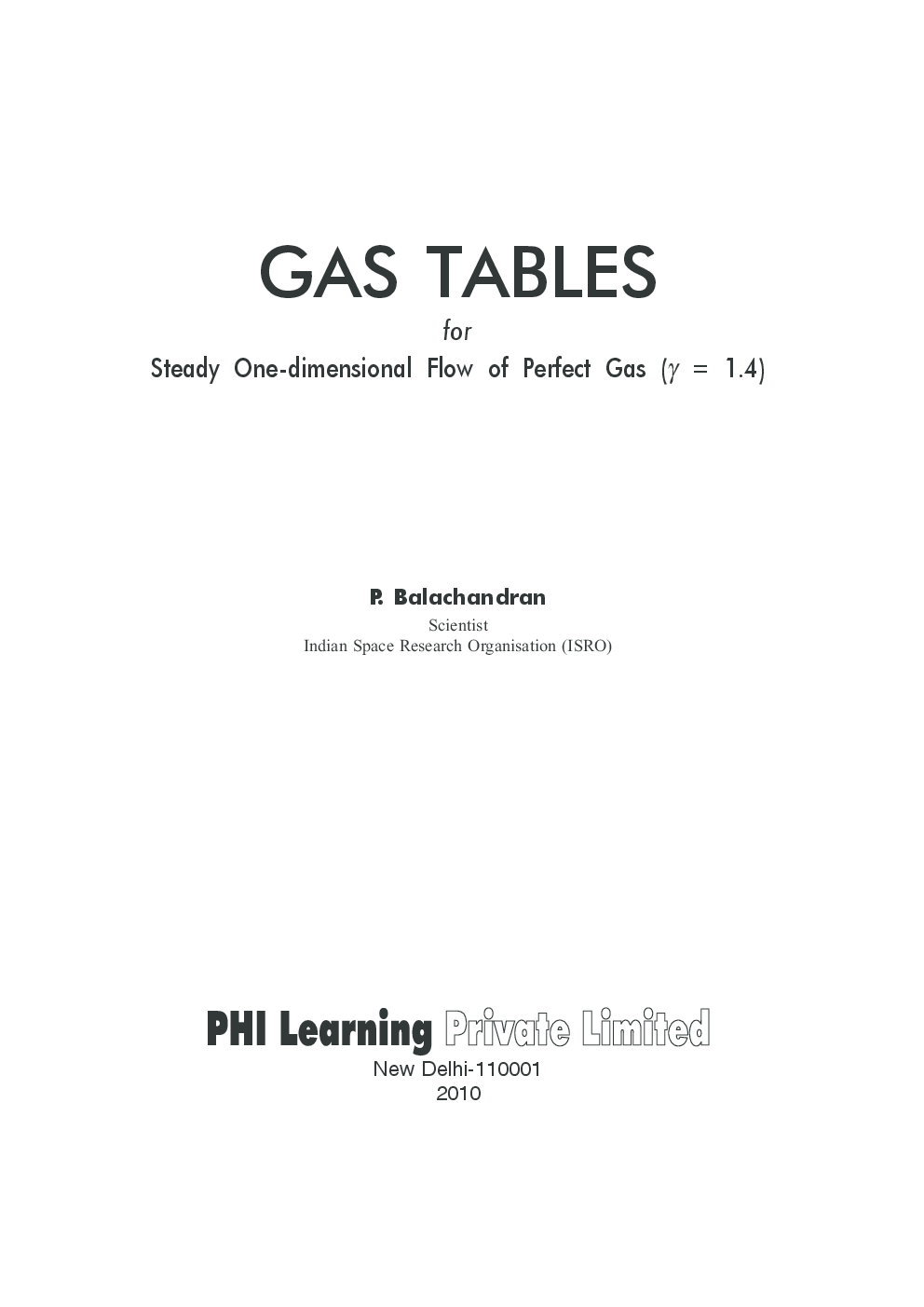 Gas Tables: For Steady One-Dimensional Flow Of Perfect Gas - Page 2