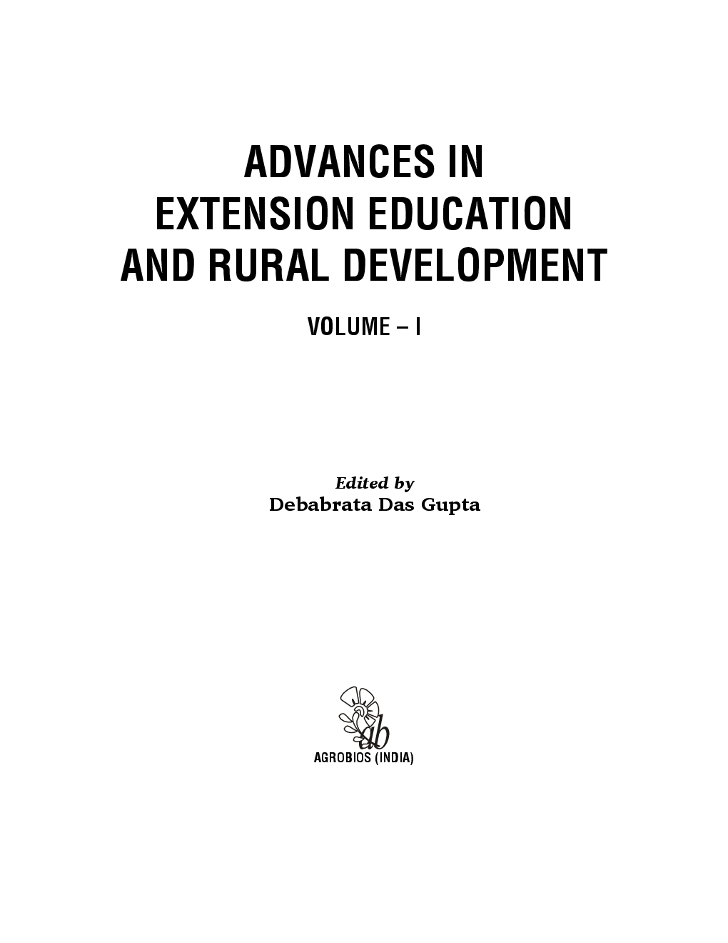 Advances in Extension Education and Rural Development Volume 1 - Page 2