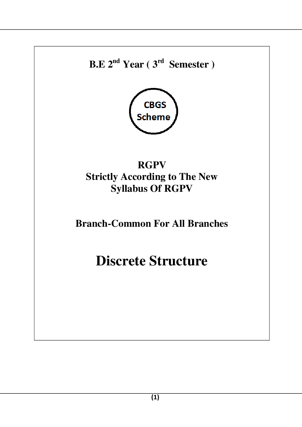 Discrete Structure For RGPV B.E. 3rd Sem Computer Science Engineering - Page 2