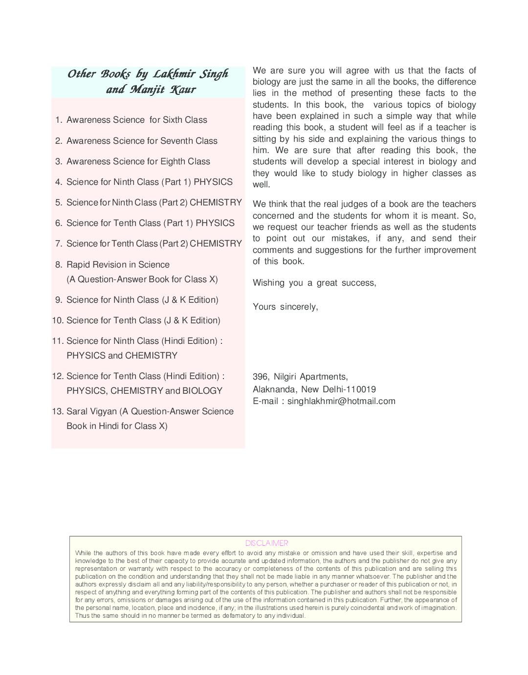 ... Array - download science for tenth class part 3 biology by lakhmir  singh rh kopykitab com