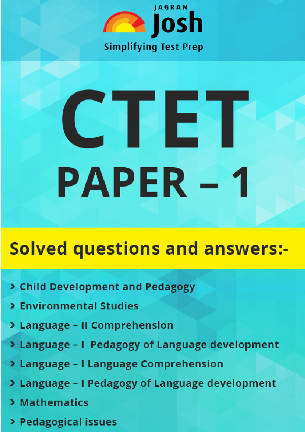 CTET Paper-1 Solved Questions and Answers - Page 1