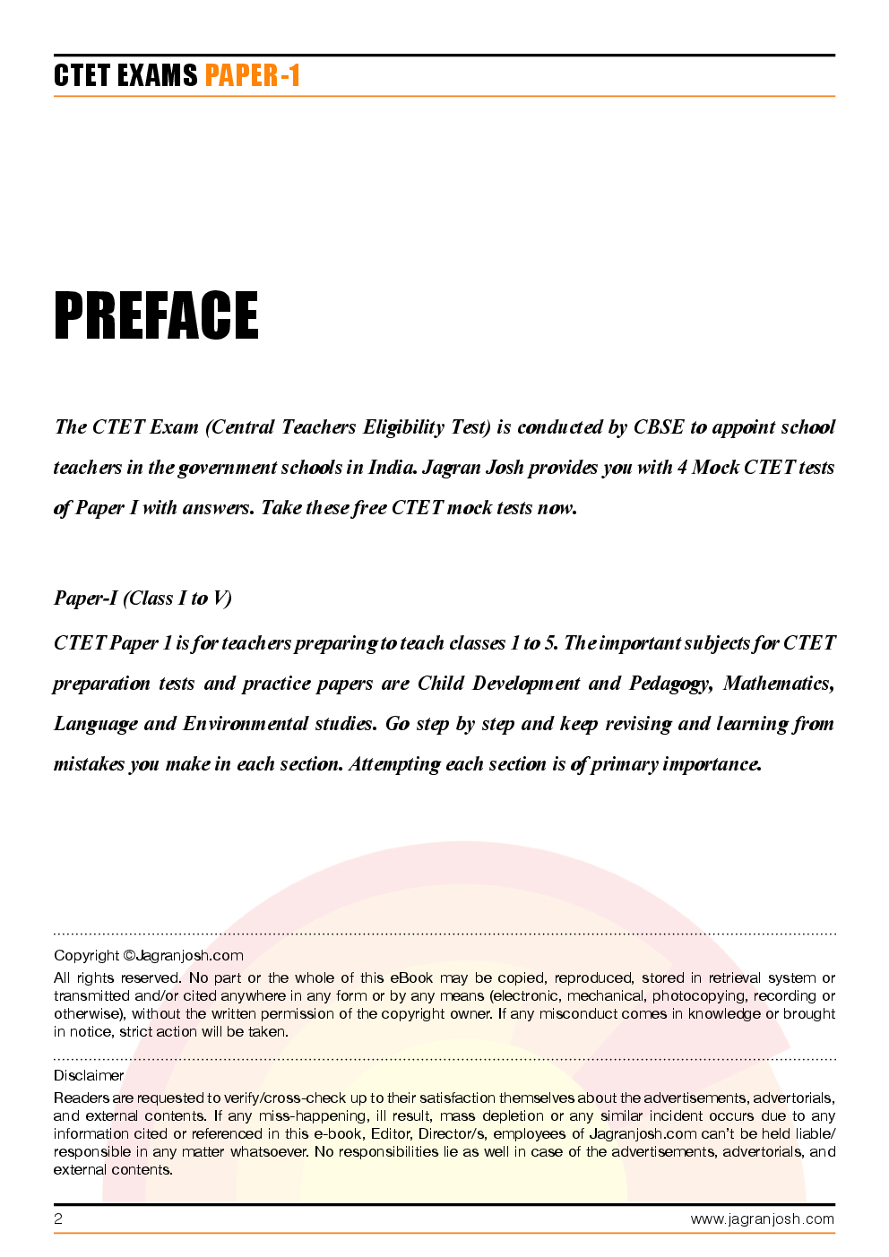 CTET Paper-1 Solved Questions and Answers - Page 2
