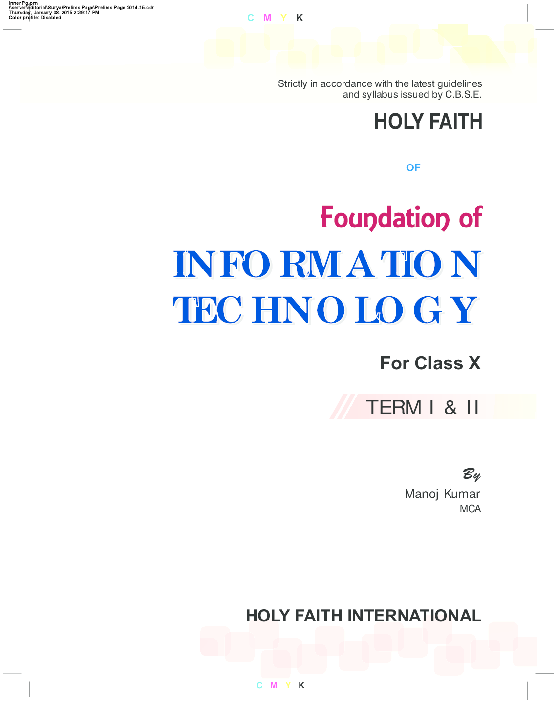Experience In Web Reader. Holy Faith abc Of Foundation Of Information  Technology For Class X ...