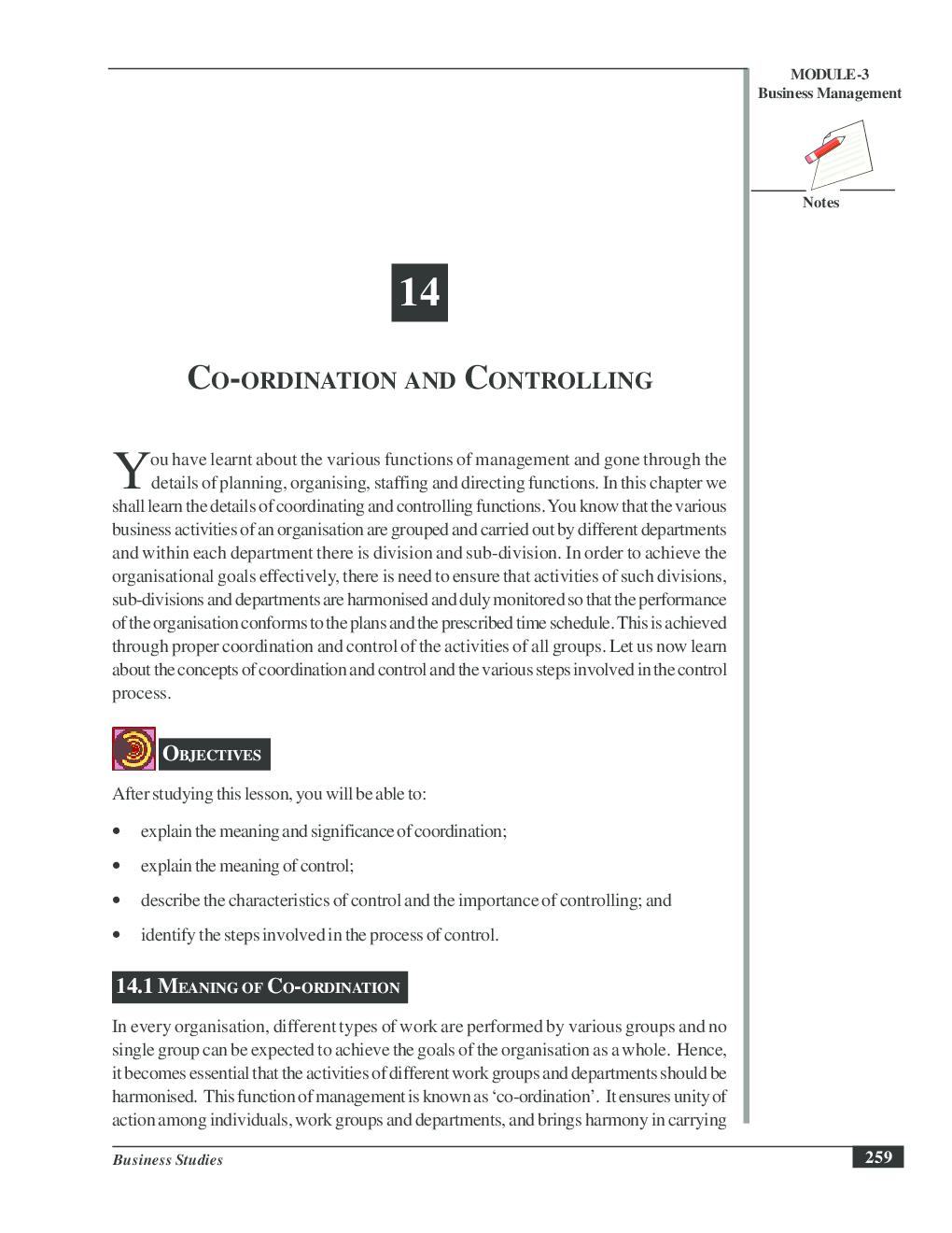 describe coordination
