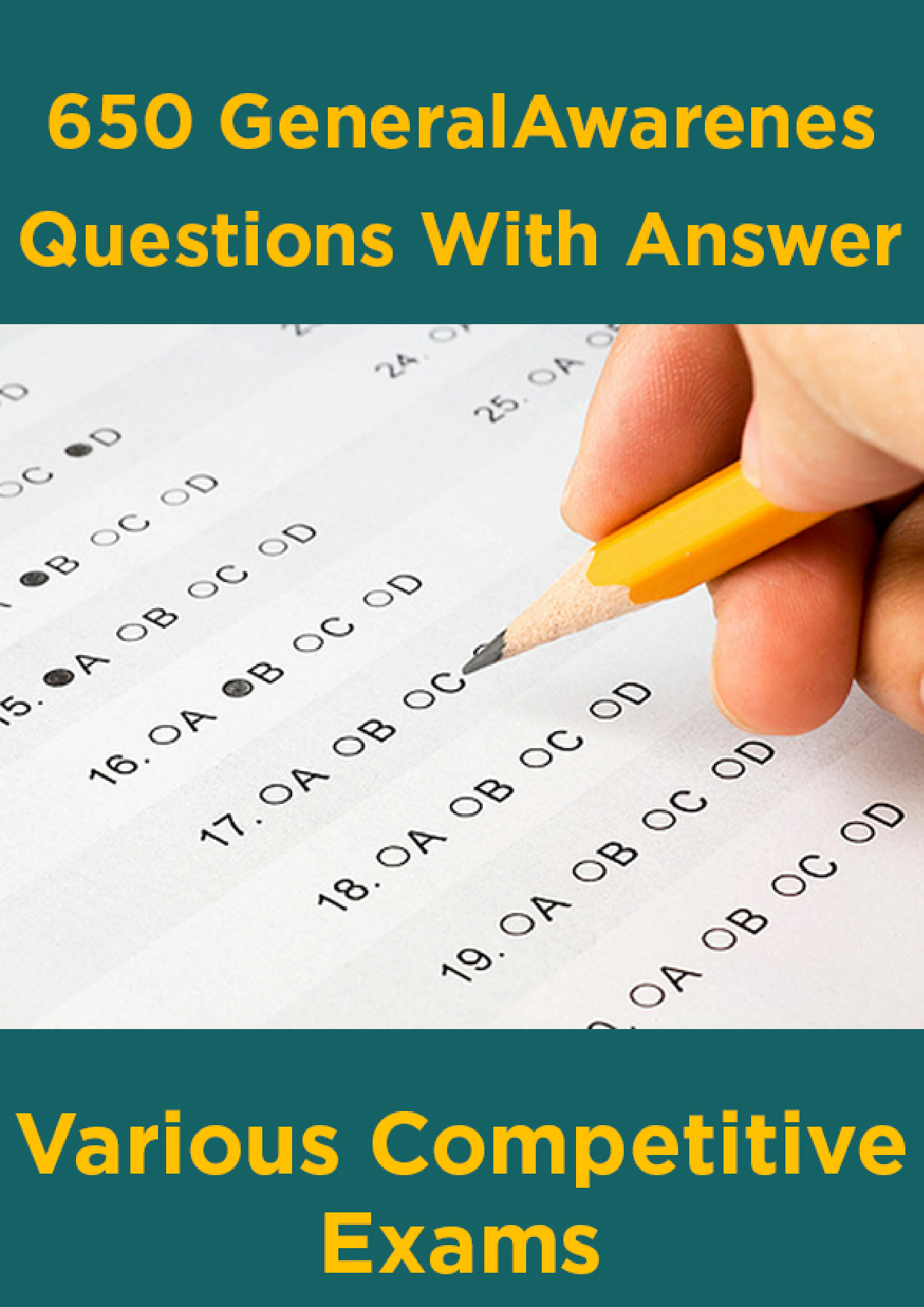 650 General Awareness Questions With Answer For Various Competitive Exams - Page 1