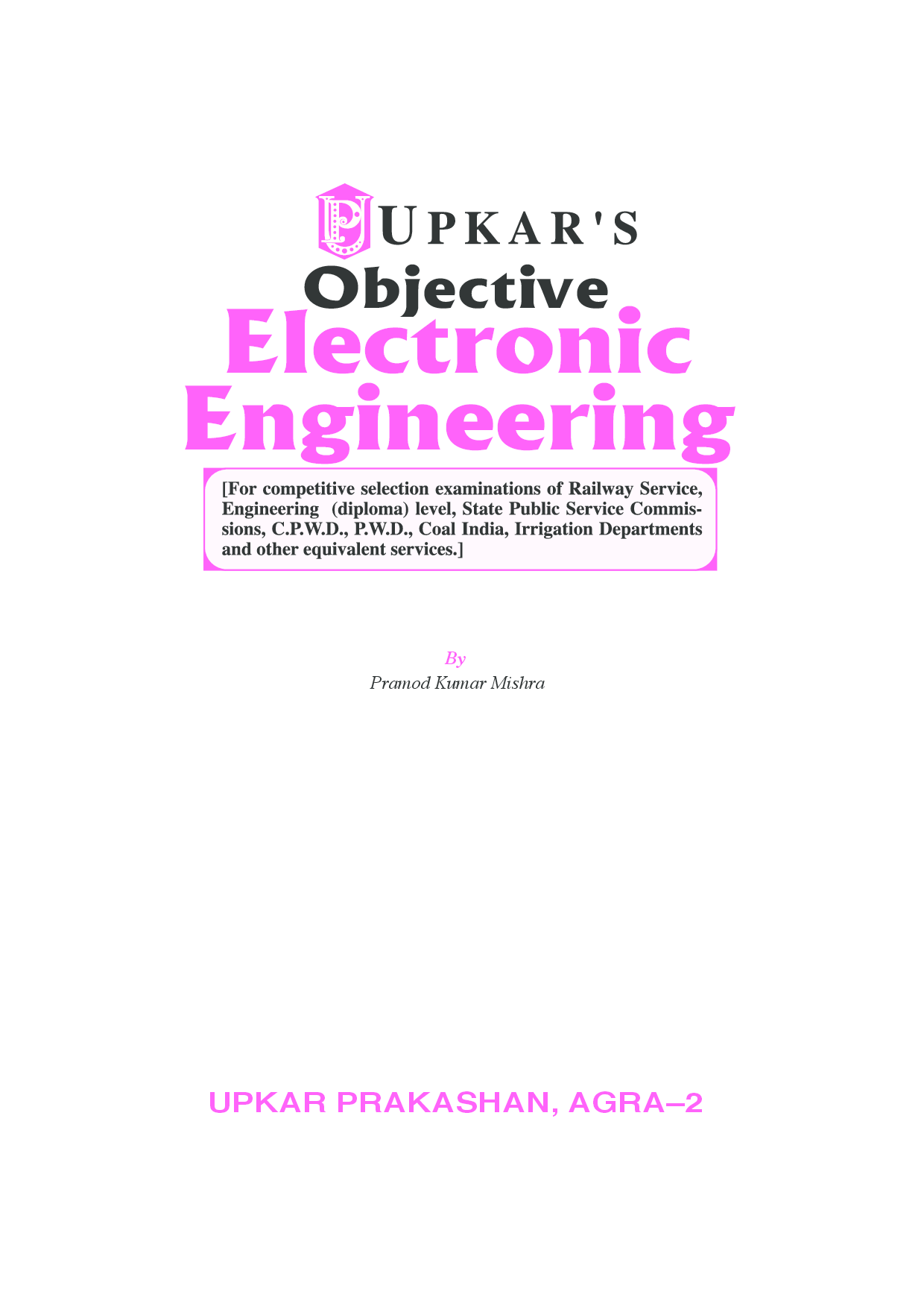 Objective Electronic Engineering Railway and Other Engineering Diploma Compettive Exams - Page 2