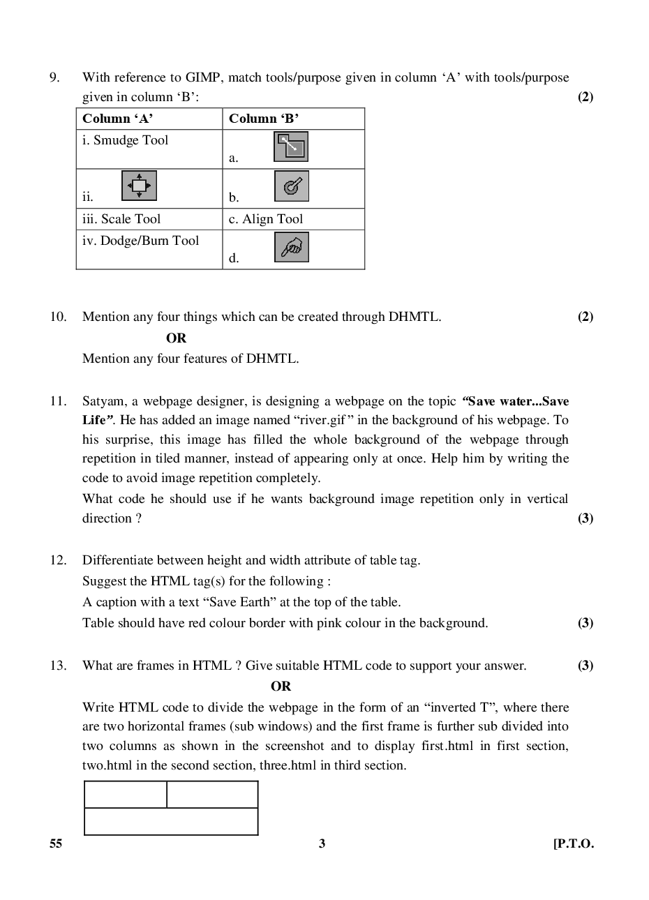 CBSE Question Papers For Class - X Information & Communication Technology Set-4 (2018) - Page 4