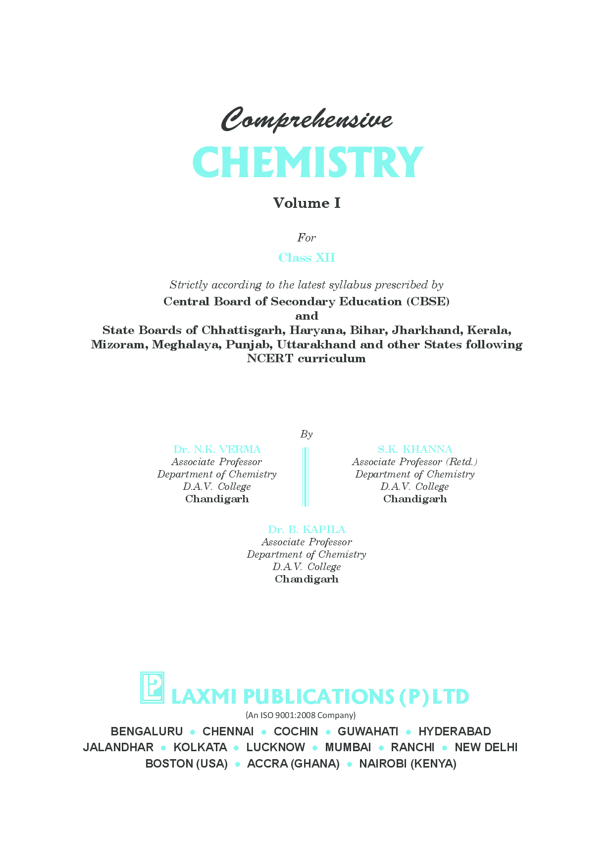 Comprehensive Chemistry XII (Volume I And II) - Page 5