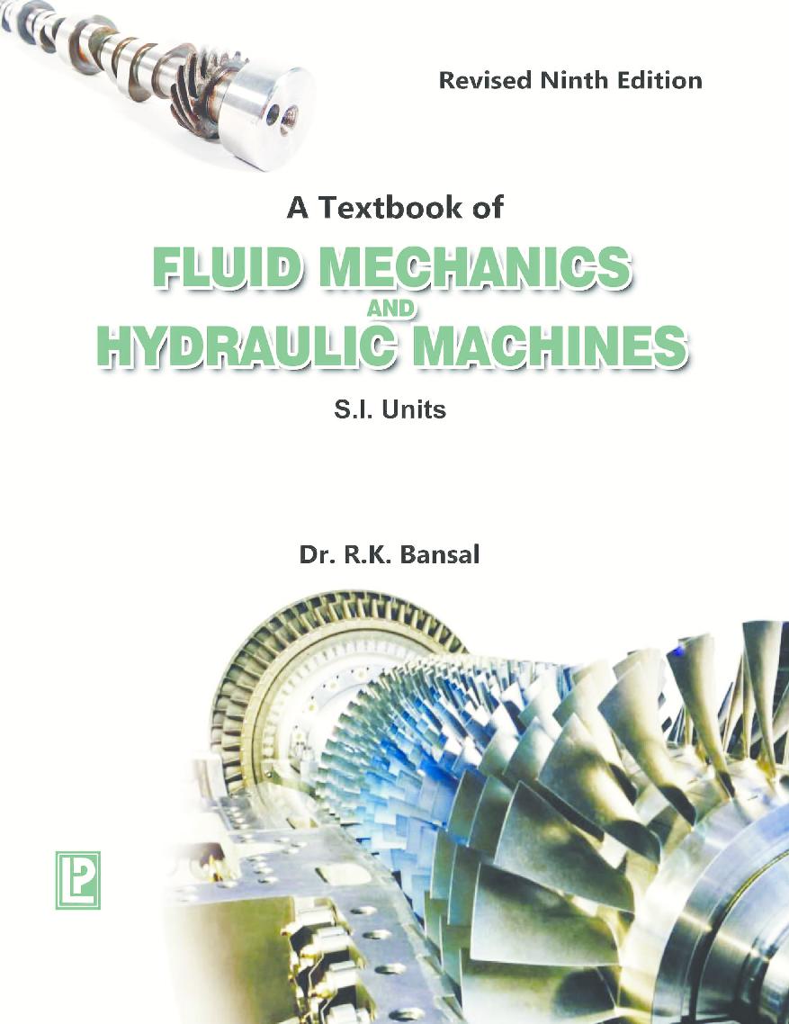 Hydraulic fluid machinery ebook download mechanics free
