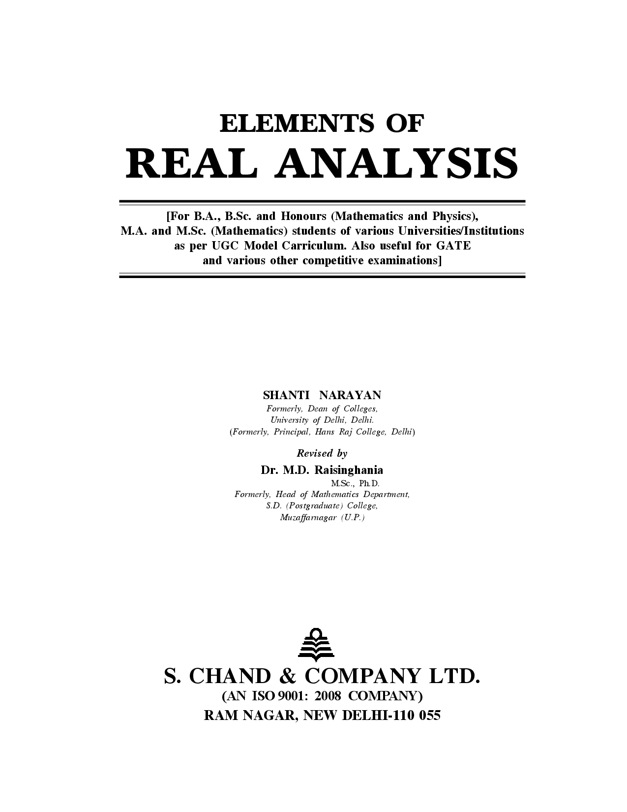 Elements Of Real Anyalsis - Page 2