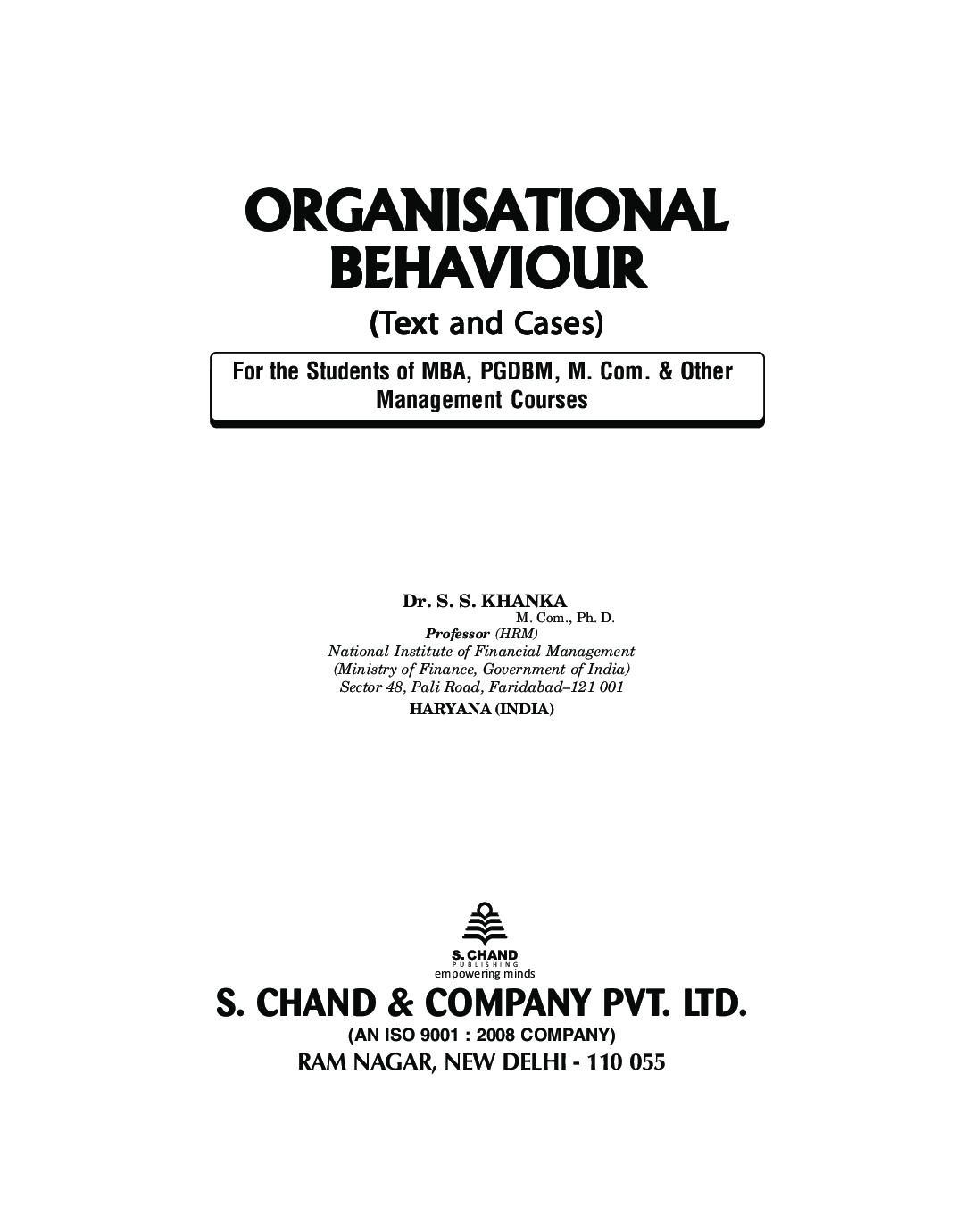 Organisational Behaviour - Page 2
