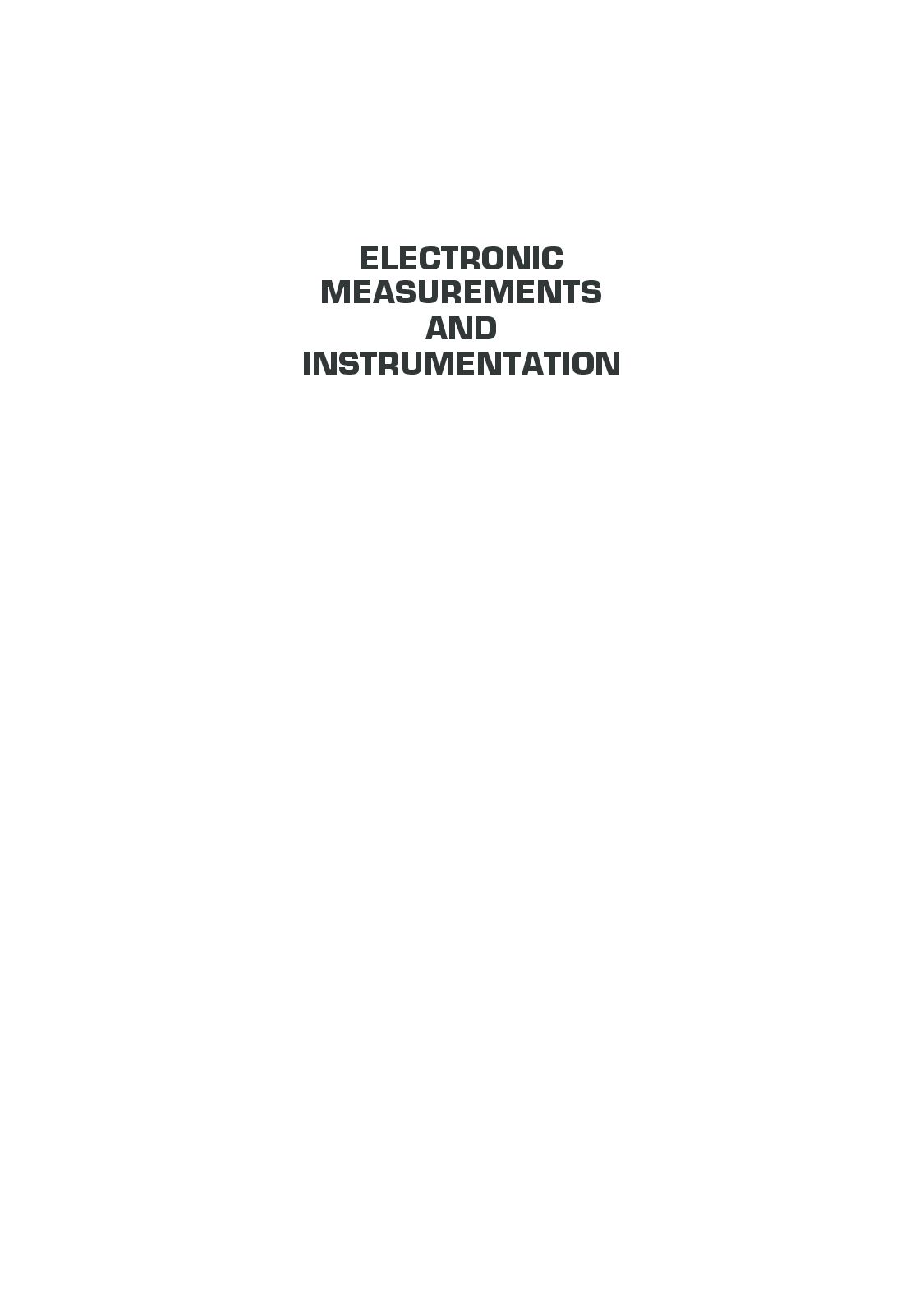 Electronic Measurement And Instrumentation - Page 2