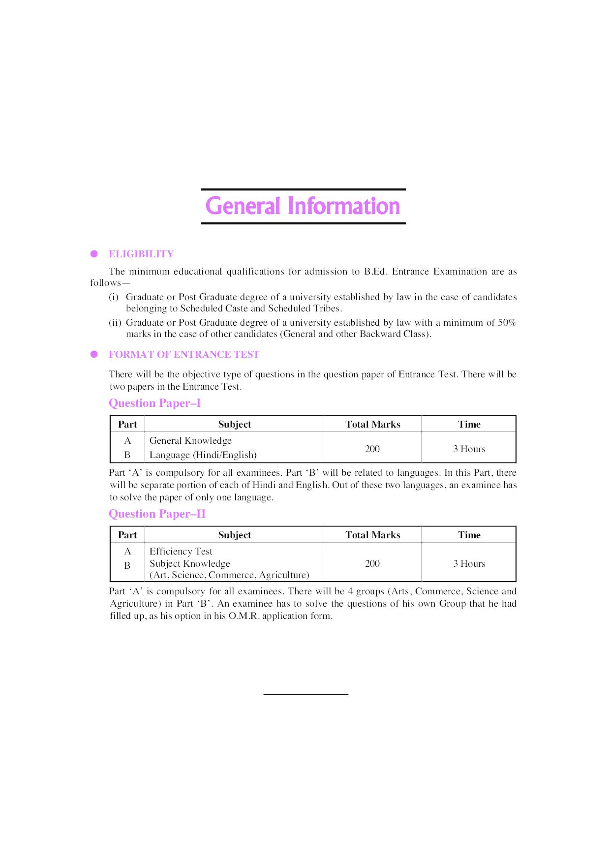 Uttar Pradesh B.Ed. Joint Entrance Test (Arts Group) - Page 5