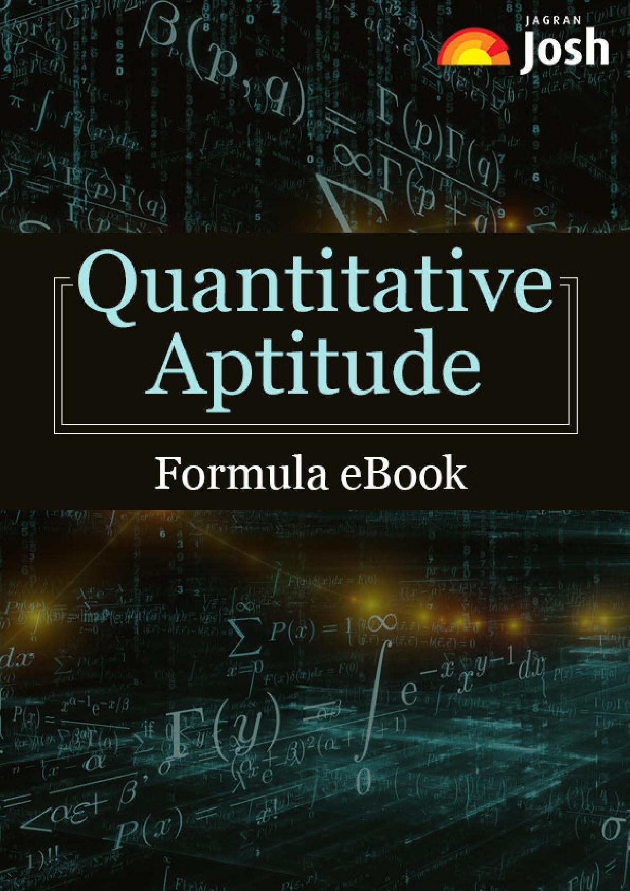 Quantitative Aptitude Formula ebook - Page 1