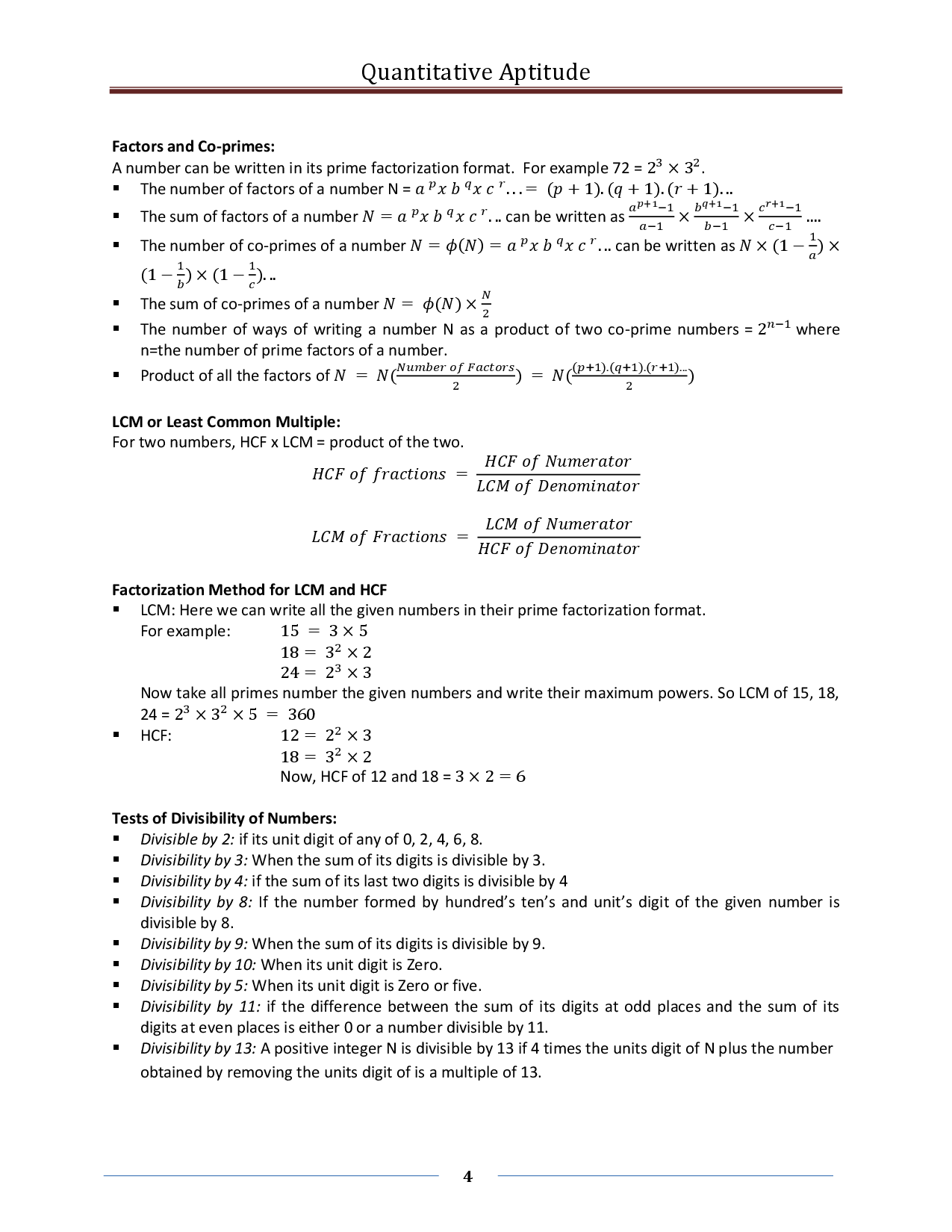 Quantitative Aptitude Formula ebook - Page 4