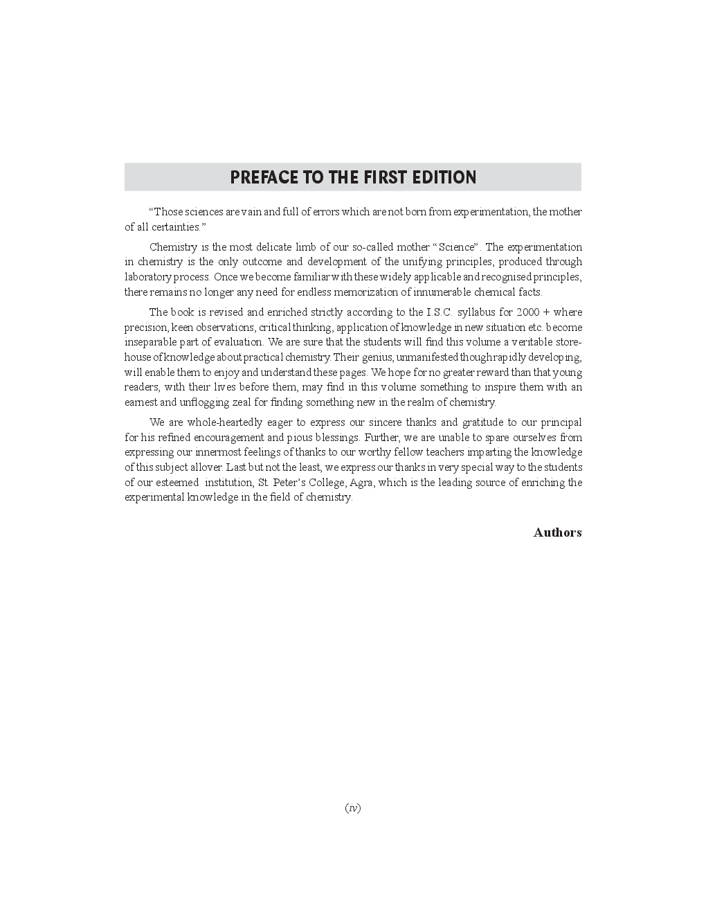 ISC Practical Chemistry Volume 2 For Class XII - Page 5