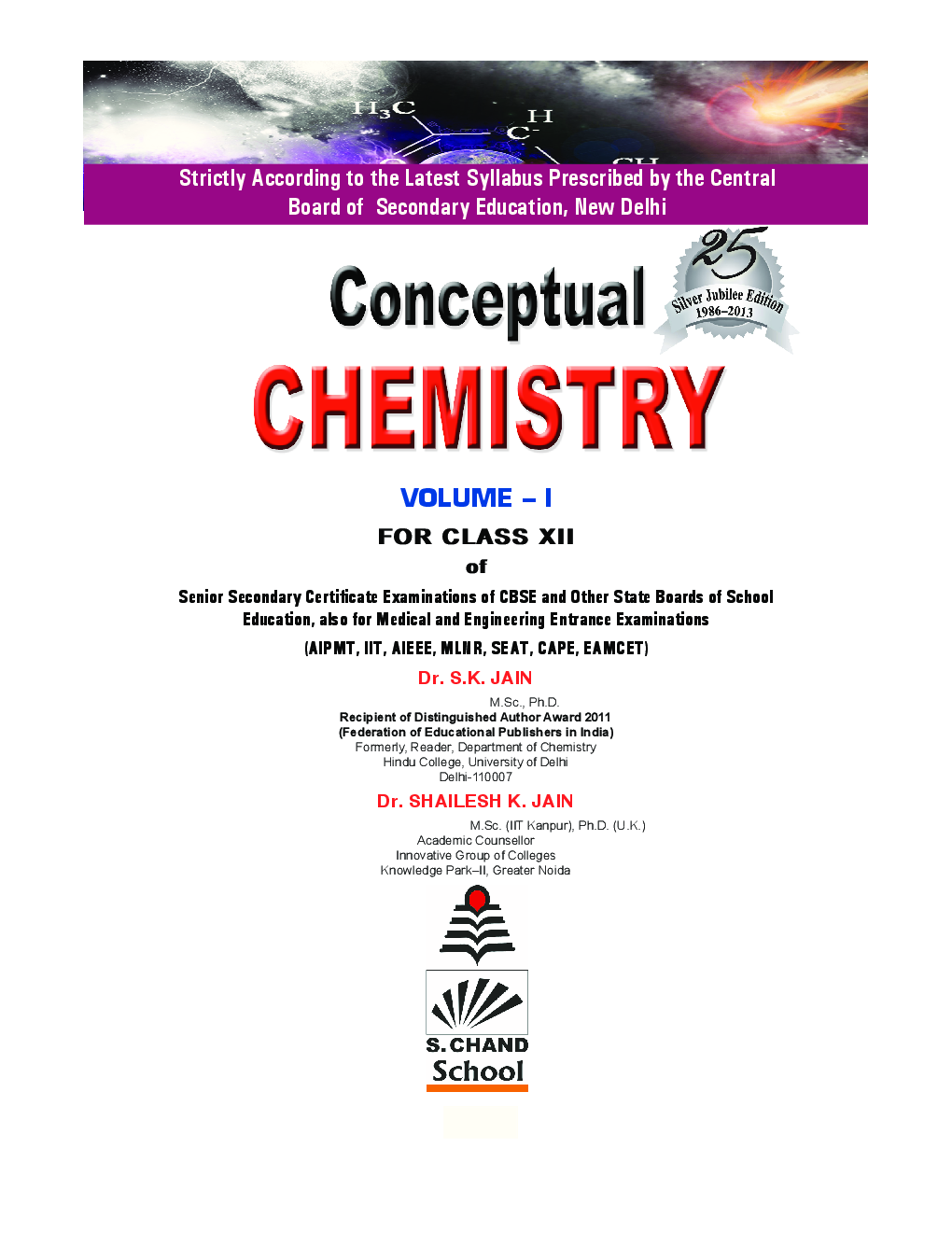 Conceptual chemistry volume 1 for class xii by s k jain and shailesh conceptual chemistry volume 1 for class xii by s k jain and shailesh k jain fandeluxe Choice Image