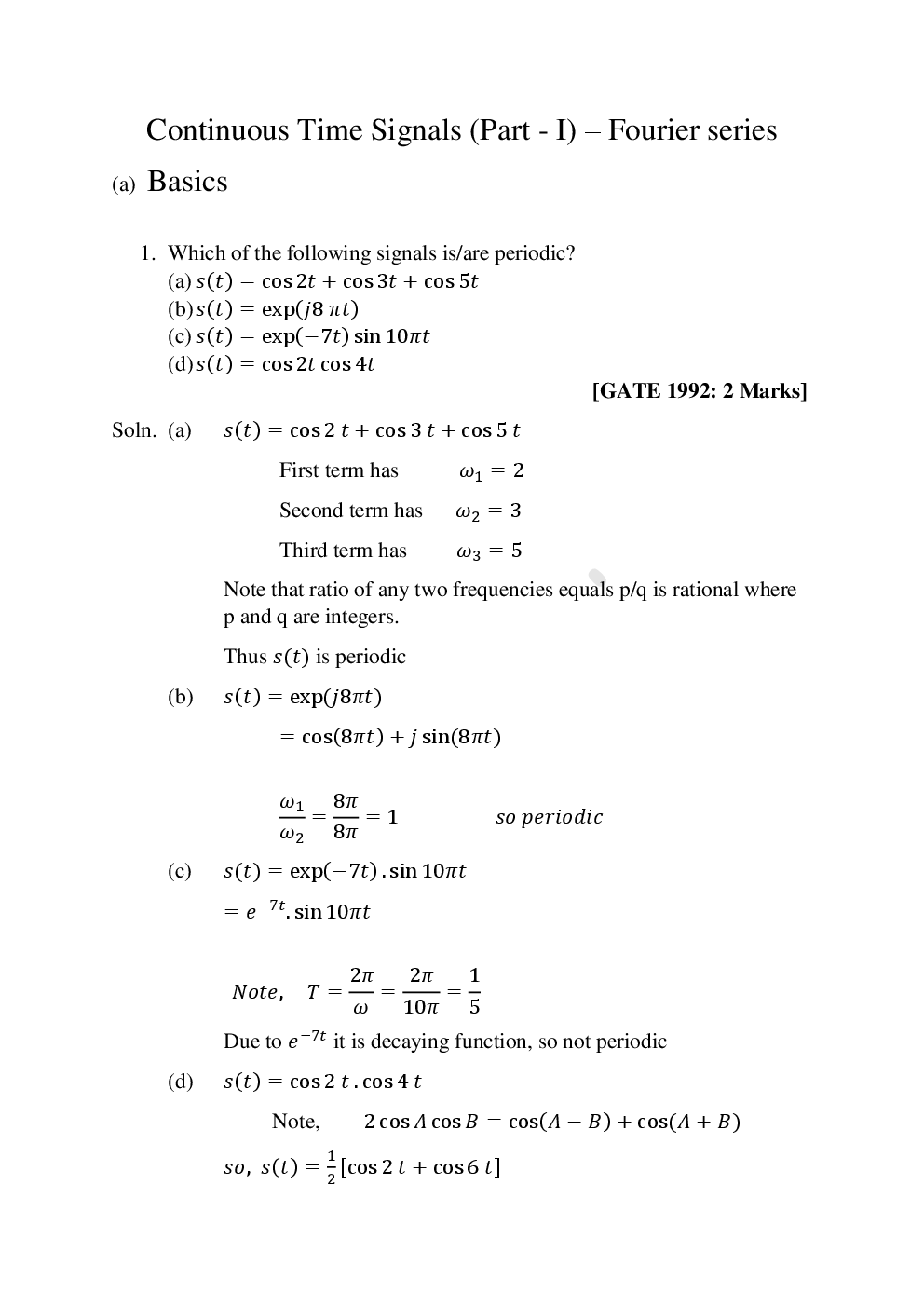 GATE Study Material For Signals And Systems - Page 2