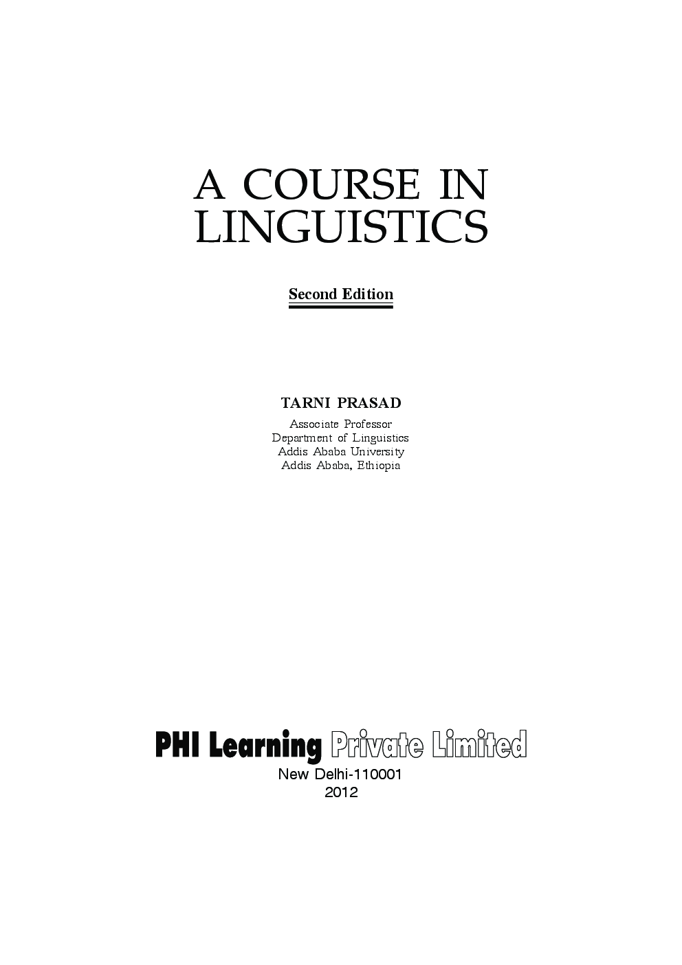Download a course in linguistics by tarni prasad pdf online a course in linguistics by tarni prasad fandeluxe Images