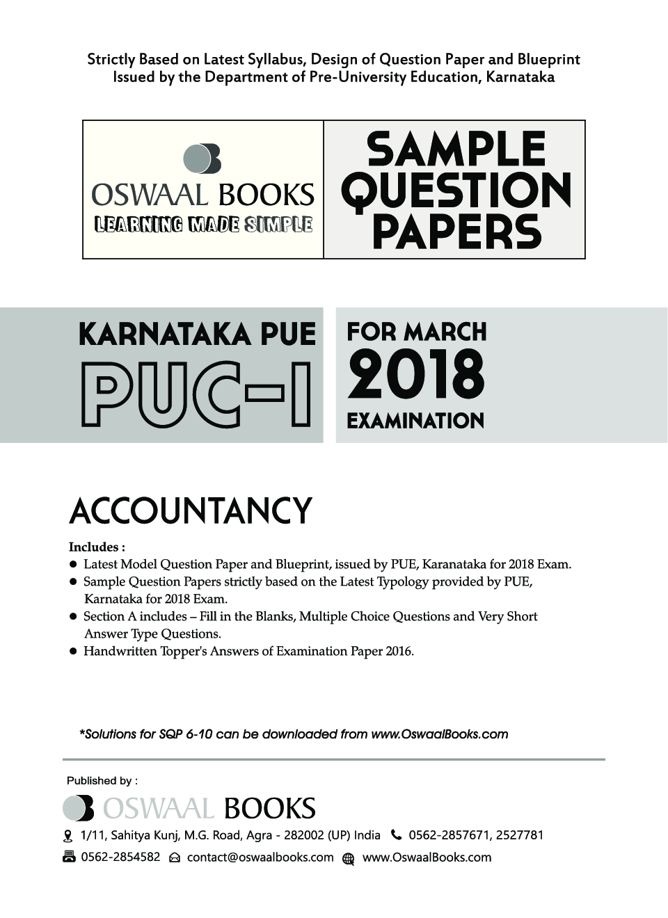 Download oswaal karnataka pue sample question papers for puc i oswaal karnataka pue sample question papers for puc i accountancy march 2018 exam by panel of experts malvernweather Image collections