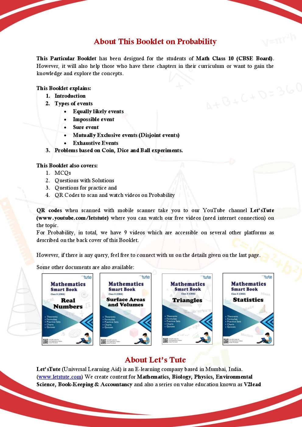 Cbse mathematics smart book for class x probability by lets tute pdf cbse mathematics smart book for class x probability by lets tute fandeluxe Images