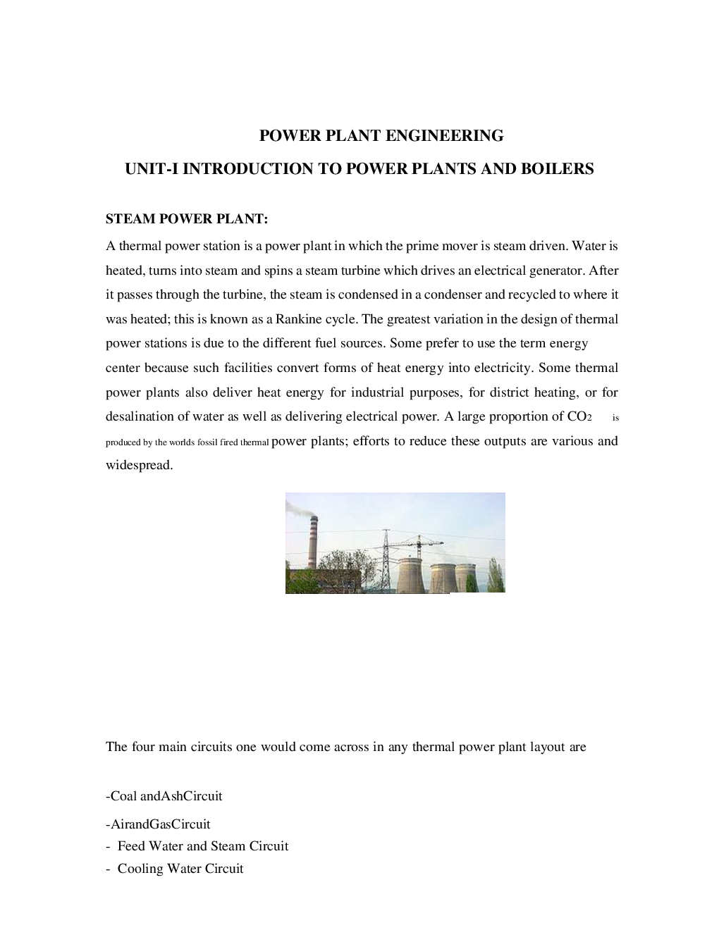 Download Vtu Enotes On Power Plant Engineering For Mechanical Layout Design Experience In Web Reader