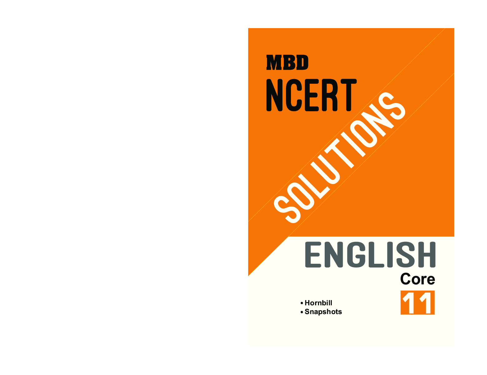 MBD NCERT Solutions English Core For Class-XI - Page 1