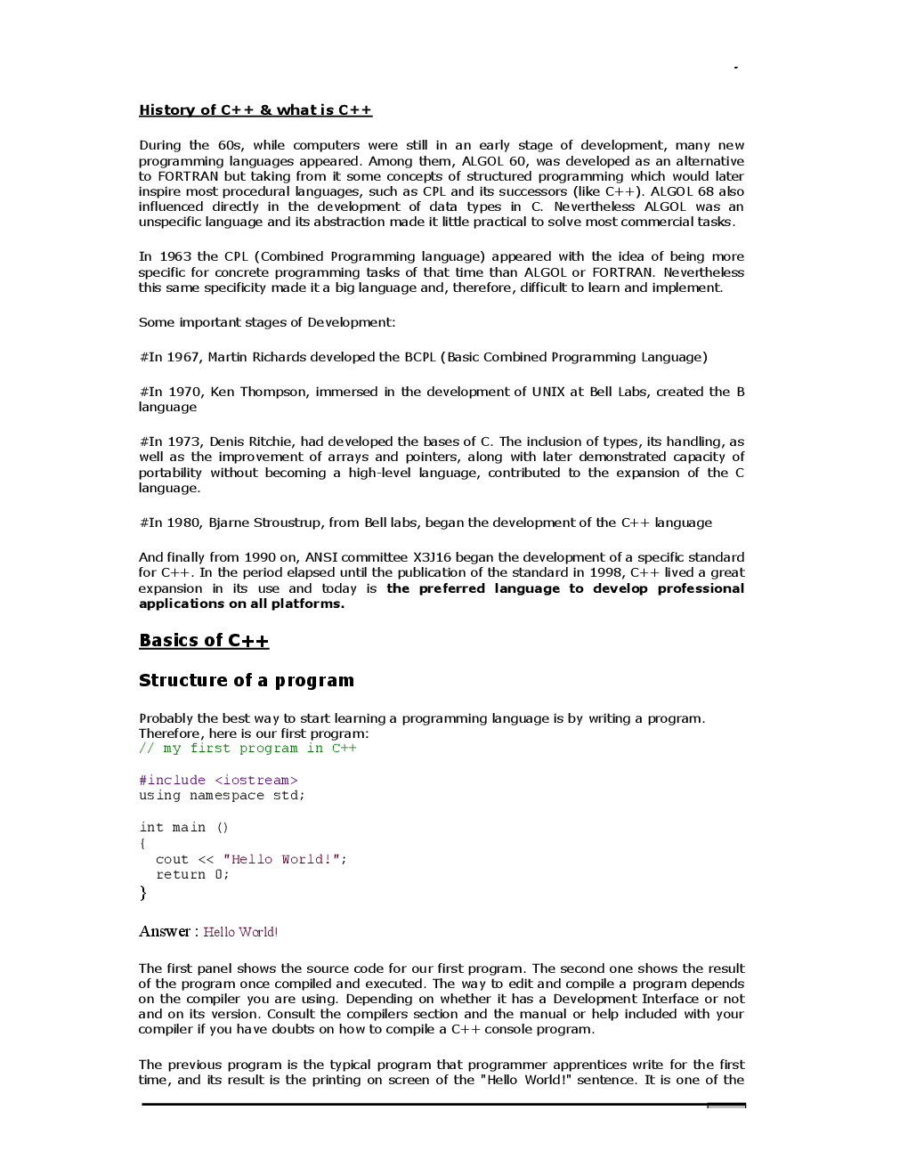 VTU eNotes On History Of C++ For Computer Science Engineering - Page 2