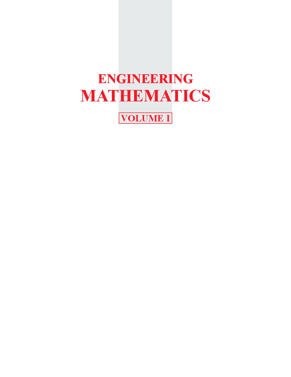 Engineering Mathematics – I - Page 2