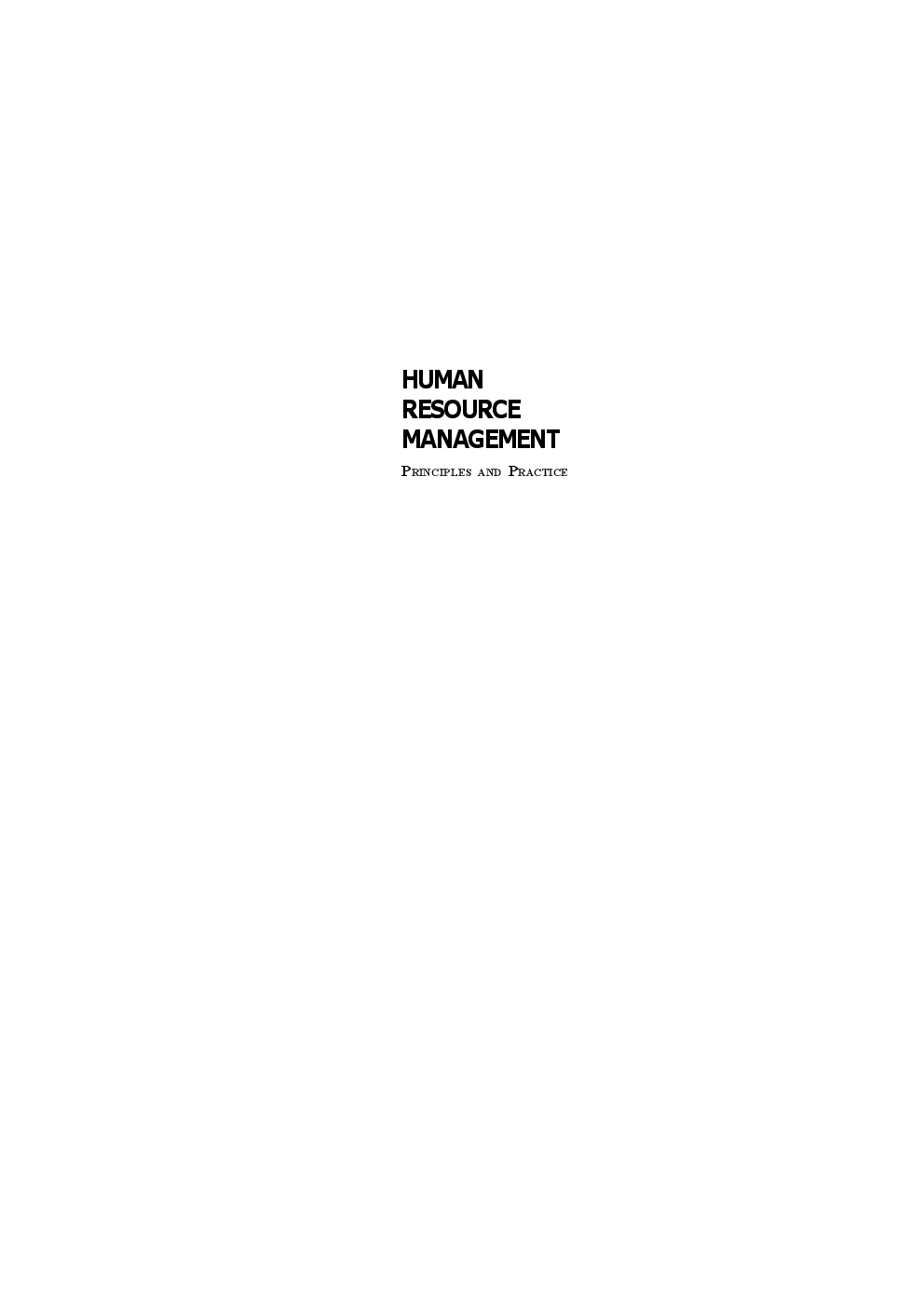 Download human resource management principles and practice by view sample fandeluxe Gallery