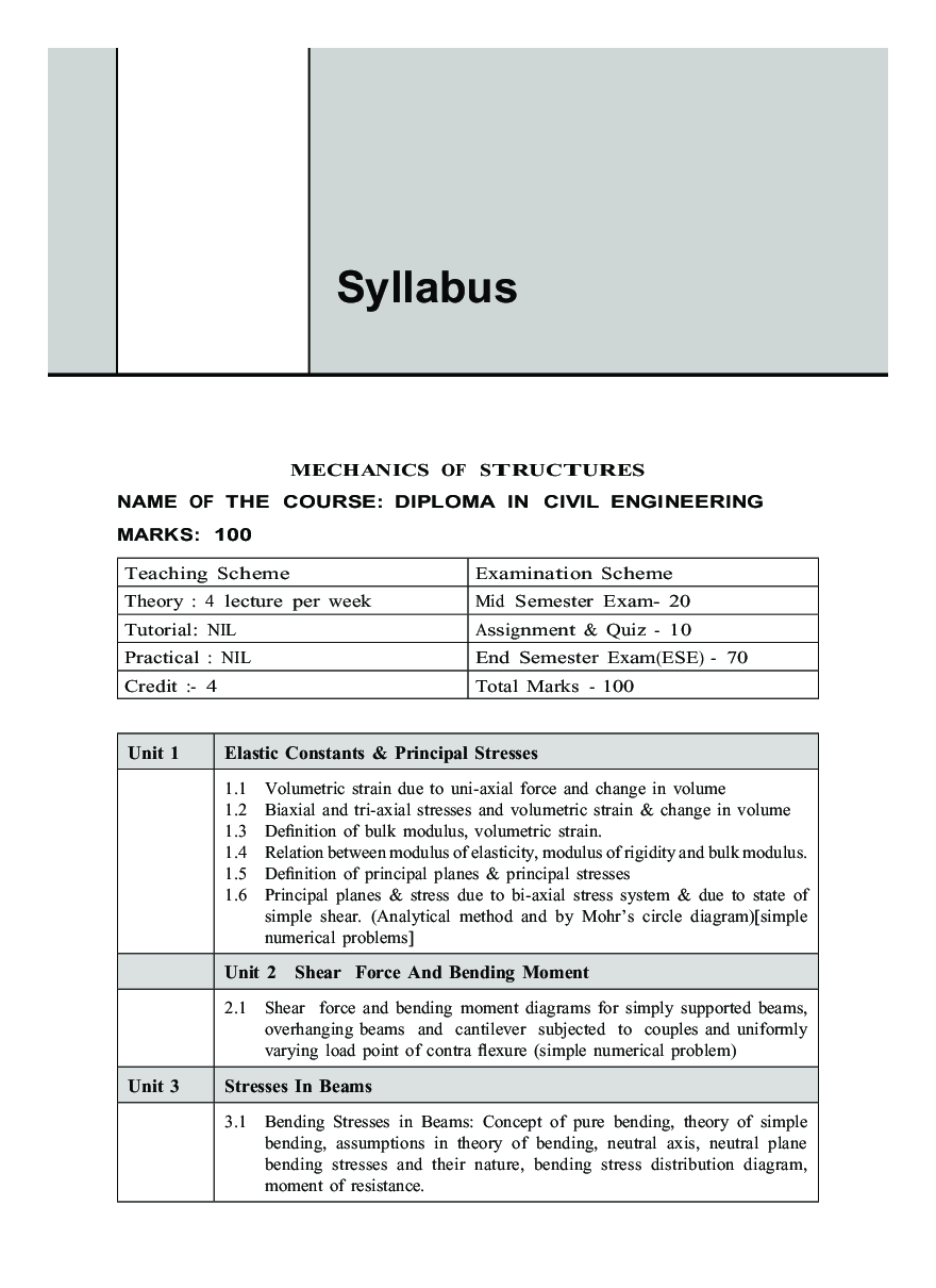 Download Mechanics Of Structures Wbscte By Ss Bhavikatti Pdf Online Shear Force And Bending Moment Diagrams Using Matlab Experience In Web Reader
