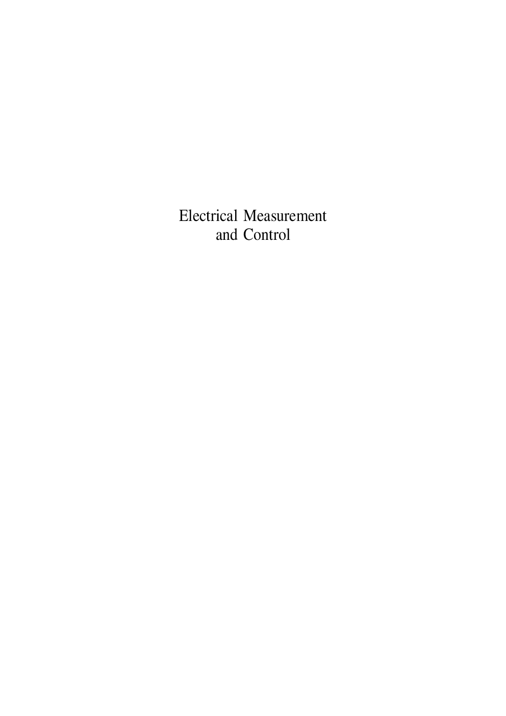 Electrical Measurement And Control (WBSCTE) - Page 2