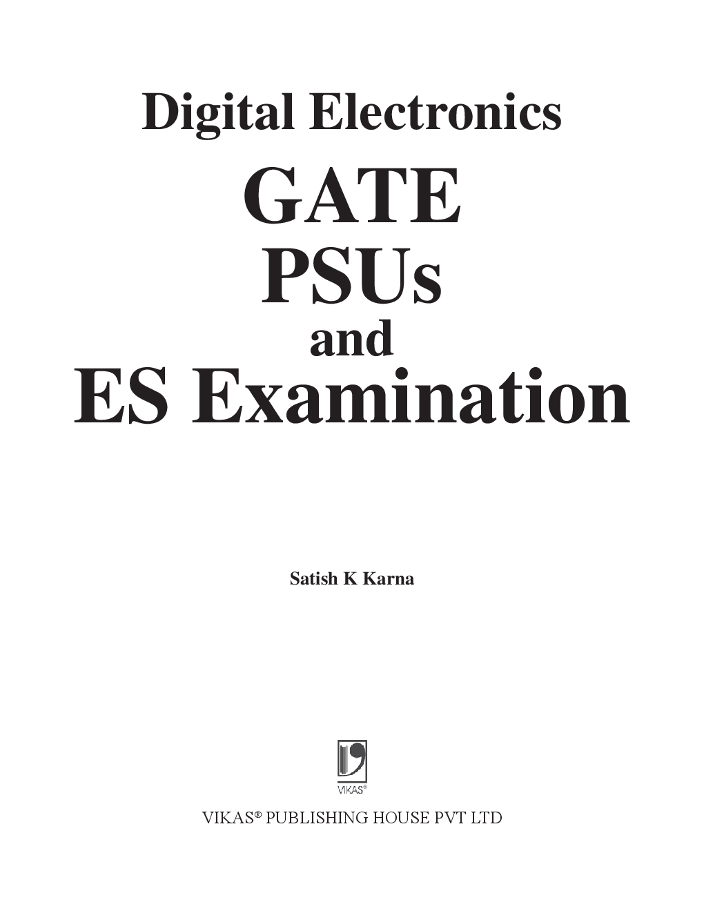 Digital Electronics - GATE, PSUS And ES Examination - Page 2