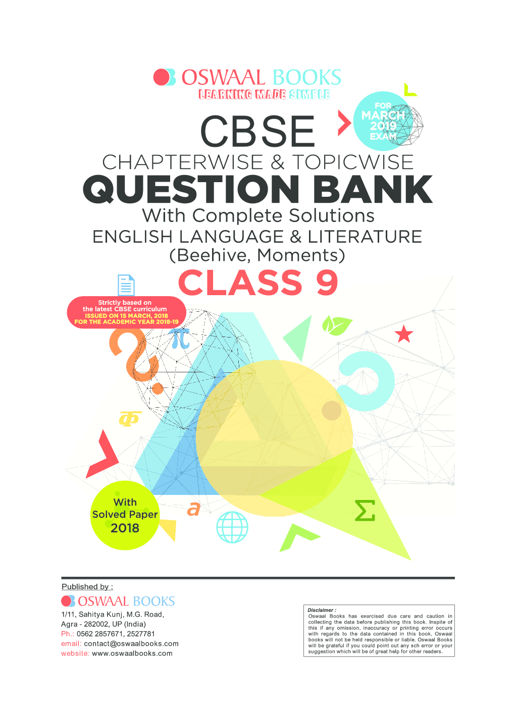 Download Oswaal CBSE Chapterwise & Topicwise Question Bank For Class-9  English Language & Literature (Mar 2019 Exam) by Panel Of Experts PDF Online
