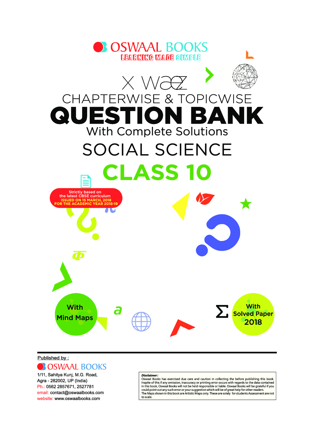 Download Oswaal CBSE Chapterwise & Topicwise Question Bank For Class-10  Social Science (Mar 2019 Exam) by Panel Of Experts PDF Online