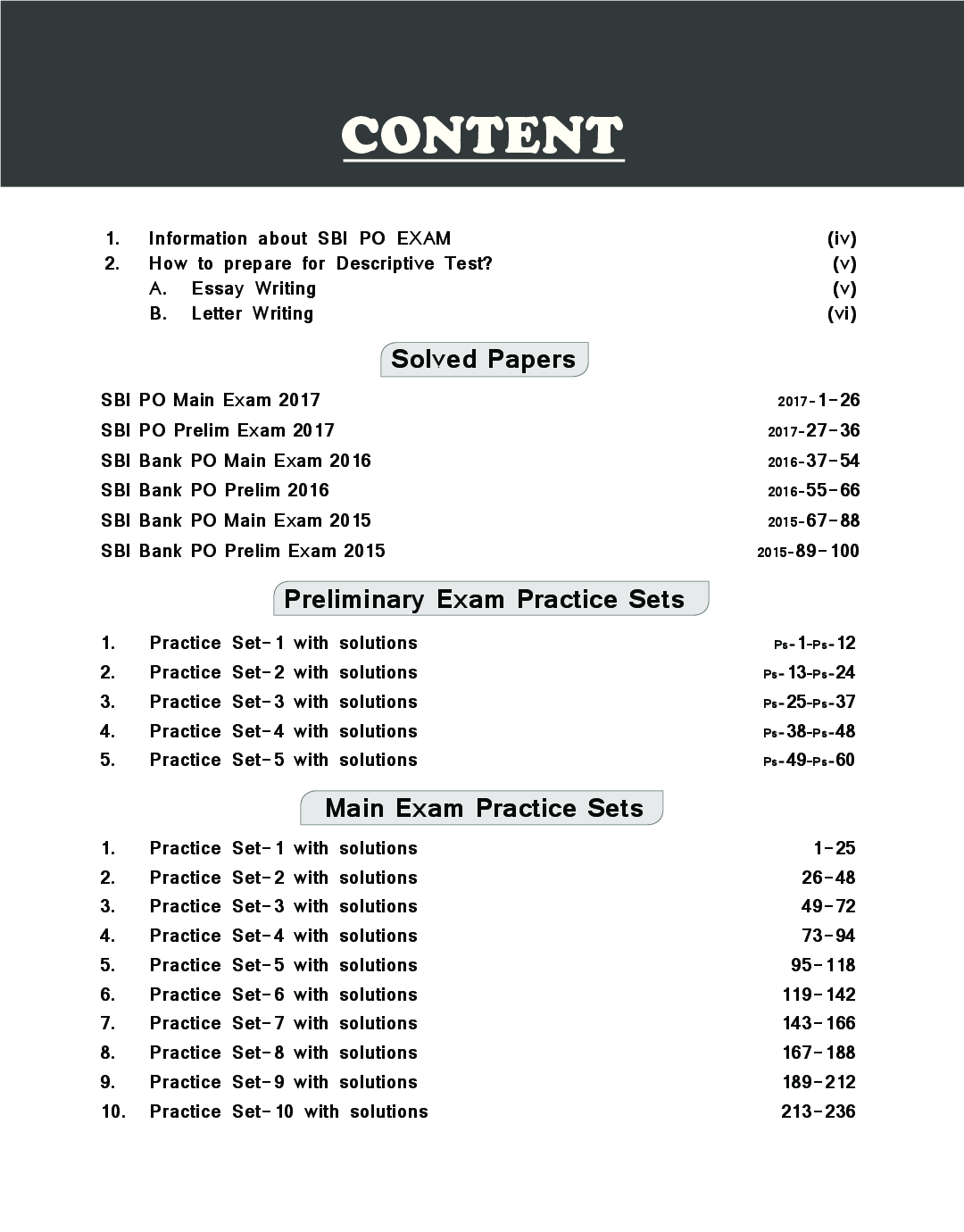 sbi bank po exam paper 2017